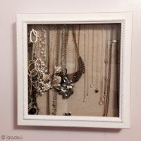 How I Store My Necklaces: Shadow Box